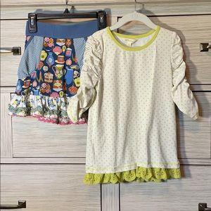 Adorable Matilda Jane skirt and shirt combo